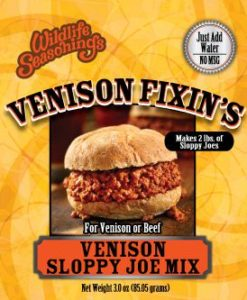 Venison Fixin's - SLOPPY JOE